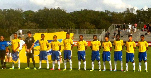 Brasil Sub-15 vence por 2 a 1 na estreia do Nike Friendlies